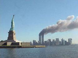 9_11 Statue of Liberty WTC
