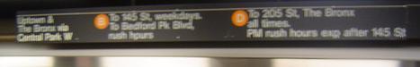 Sign in the NY Subway