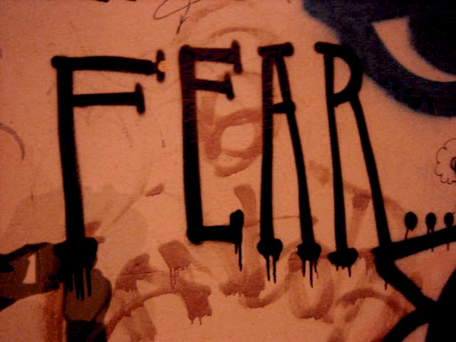 picture of fear graffito
